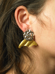 Numa Earrings - White gold/Gold - Pair
