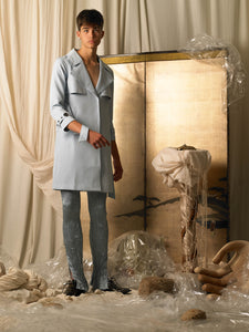 Wide-cut Trench Coat - Ocean