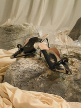 Load image into Gallery viewer, Artisanal Cova Heeled Mules - Sand/Paradis Nuit