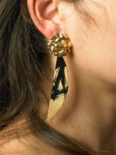 Load image into Gallery viewer, Aimo Earrings - Gold/Paradis Nuit - Pair