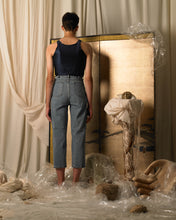 Load image into Gallery viewer, High-waist Pleated Trousers - Denim