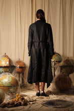 Load image into Gallery viewer, Techno-pleat Trench Coat - Black