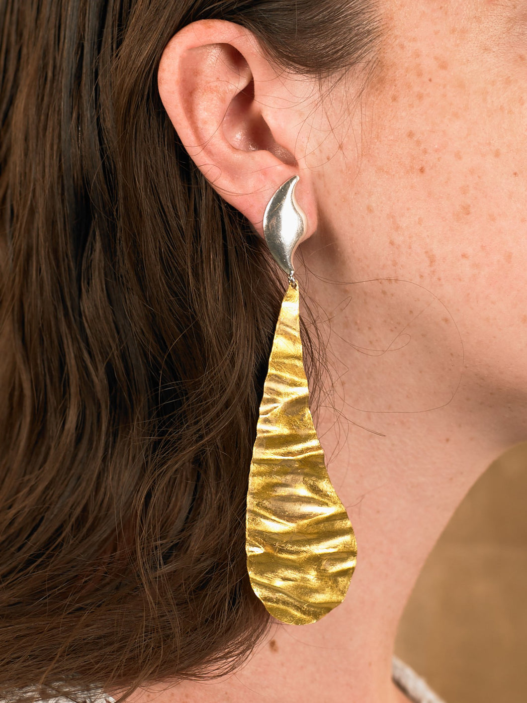 Selene Earring - Gold/White Gold - Pair