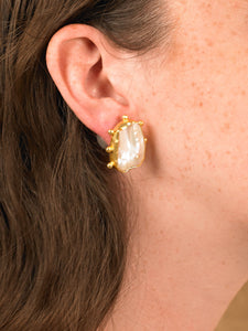 Asteria Earrings - Gold/Black - Pair