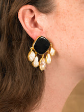 Load image into Gallery viewer, Estal Earring - Gold/Black -  Pair