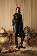 Load image into Gallery viewer, 24K Gold plated Leather Coat - Black
