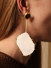 Load image into Gallery viewer, Hepha Earring - Gold / Tiger - Pair