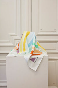 Signature Silk Scarf - Arc en Ciel