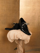 Load image into Gallery viewer, Artisanal Patent Eos Shoe - Black/Silver