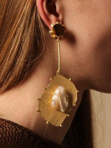 Hepha Earring - Gold / Tiger - Pair