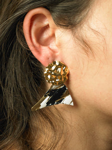 Arola Earrings - Gold/Paradis Jour - Pair