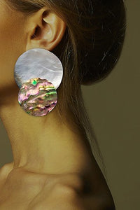 Double Shell Sphere Earring - Single piece