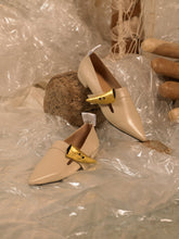 Load image into Gallery viewer, Artisanal Riya Mules - Sand / Gold
