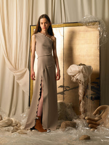 Asymmetrical Axis Dress - Sandstorm