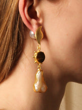 Load image into Gallery viewer, Sunna Earring - Gold / Tiger - Pair