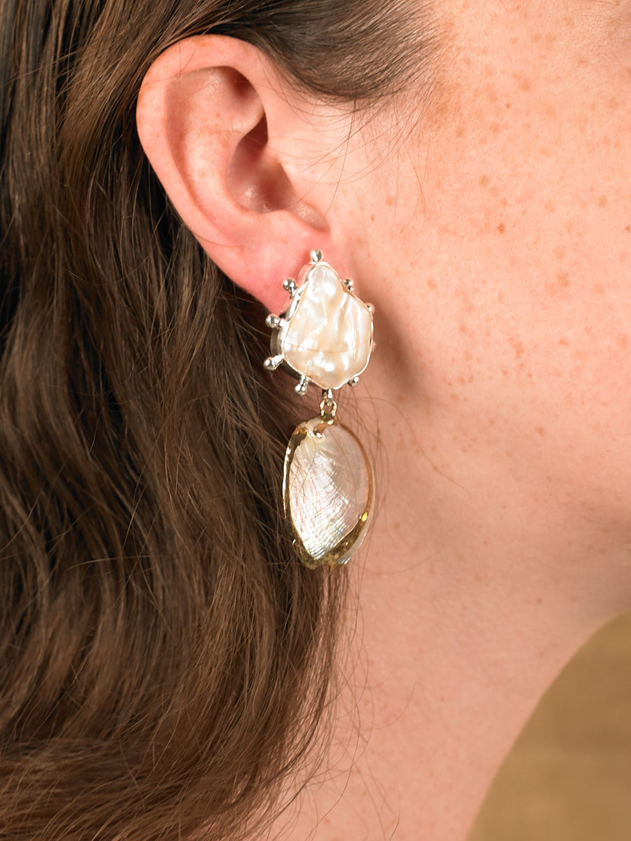 Vaia Earrings - White Gold/Gold