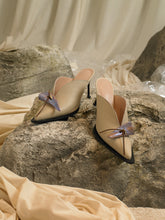 Load image into Gallery viewer, Artisanal Beauvoir Heeled Mules - Sand/Interference