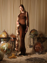 Load image into Gallery viewer, Exclusive Style - Couture shaped knit dress - Brown / Copper