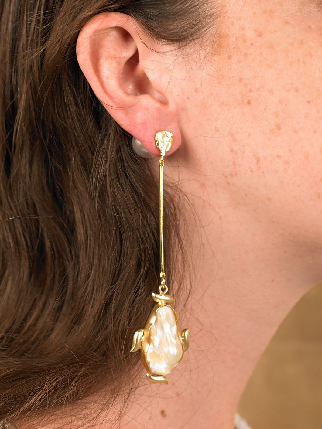 Laga Drop Earring - Gold - Pair