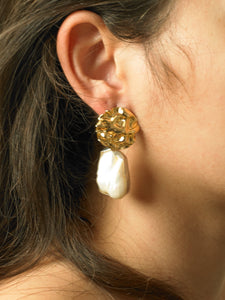 Cova Earrings - Gold/White Gold - Pair