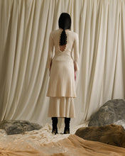 Load image into Gallery viewer, Rib-knit Midi A-line Skirt - Ivory