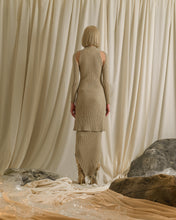 Load image into Gallery viewer, Rib-knit Dress (detachable sleeves) - Sand