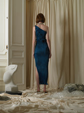 Load image into Gallery viewer, Techno-pleat Dress/Skirt - Deep Ocean