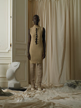 Load image into Gallery viewer, Rib-knit O-Cut Dress/Top - Sand