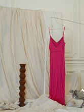 Load image into Gallery viewer, Crushed Satin Dress - Fuchsia