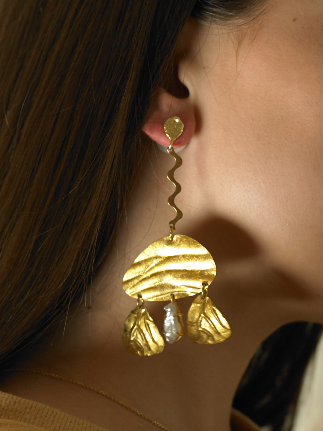 Nanola Earrings - Gold