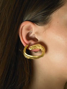 Artisanal Voya Earrings - 24K Gold