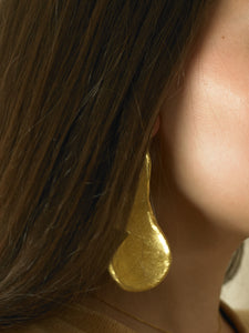 Artisanal Nerida Earrings - 24K Gold