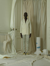 Load image into Gallery viewer, Crushed Elongated Trousers - Ivoire