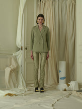 Load image into Gallery viewer, Crushed Elongated Trousers - Sage