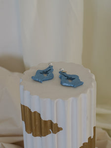 Artisanal Cana Earrings - Ocean