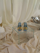 Load image into Gallery viewer, Artisanal Nuage Mules - Ocean/Gold