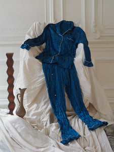 Satin Pyjama Set - Marine