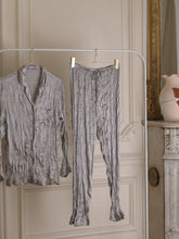 Load image into Gallery viewer, Satin Pyjama Set - Silver