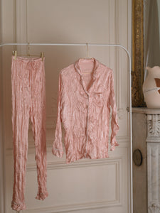 Satin Pyjama Set - Rose