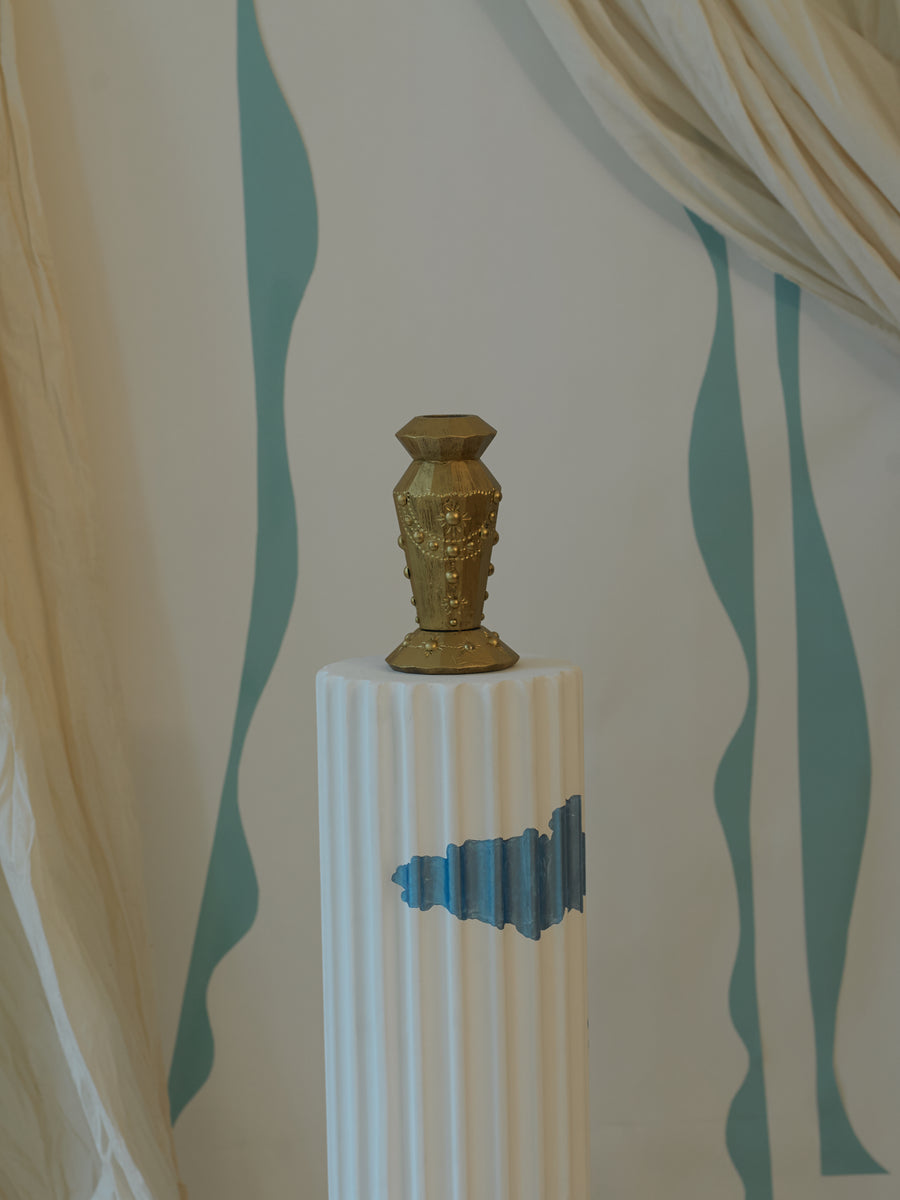 Gilded Candle Stick Holder