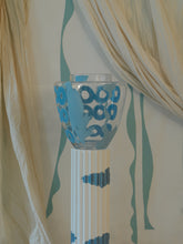 Load image into Gallery viewer, Hand painted Floor vase - Light Blue