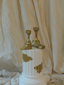 Gilded Candle Stick Holders - Set