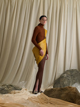 Load image into Gallery viewer, Elongated Rib-knit Skirt - Terra