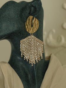 Chandela Earrings - Gold