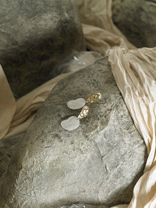 Gaia Earrings - Gold / Pearl Moon