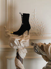 Load image into Gallery viewer, Techno Amaia Heeled Boots - Black