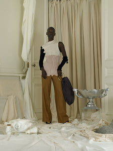 Tailored Linen-blend Trousers - Terra