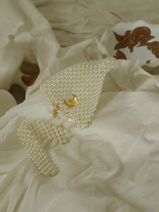 Artisanal Heva Pearl Clutch - Pearl/Gold