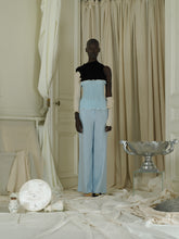 Load image into Gallery viewer, Tailored Linen-blend Trousers - Ocean