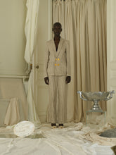 Load image into Gallery viewer, Crunched Tailored Linen-blend Trousers - Sand